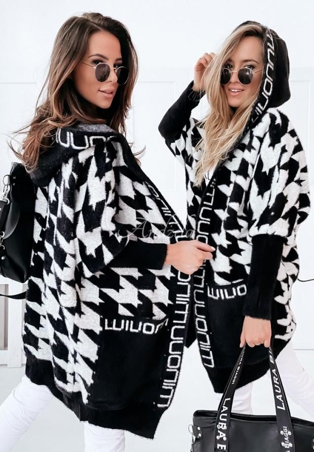 Płaszcz Alpaka Miray Black&White