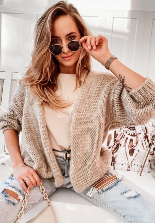 Sweter Kardigan Selma Mokka