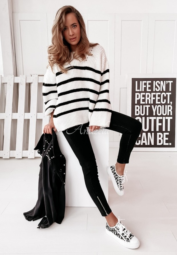 Sweter Messa White&Black