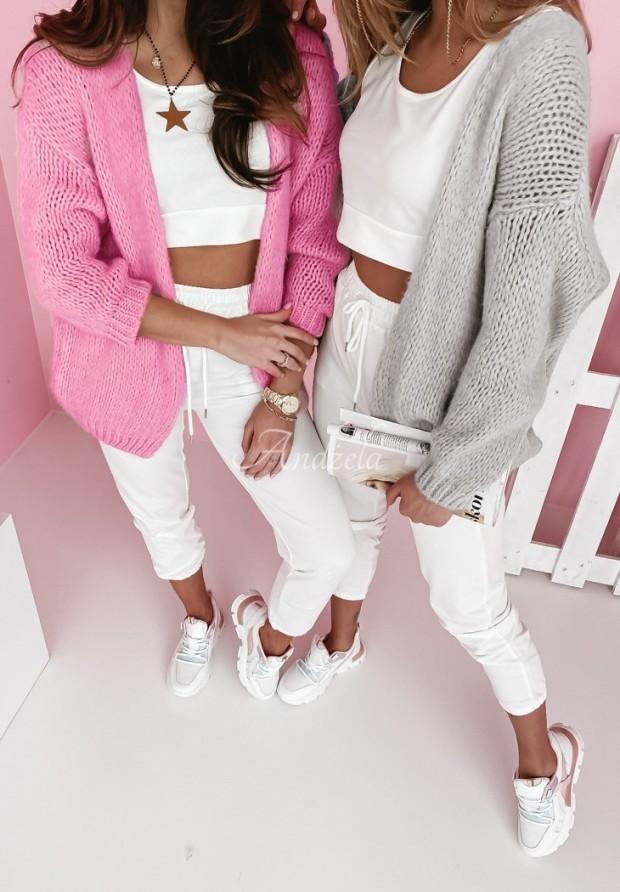 Sweter Kardigan Selma Pink