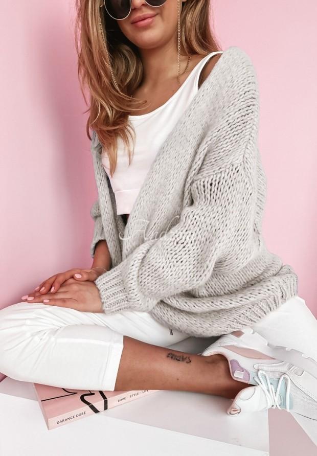 Sweter Kardigan Selma Light Grey