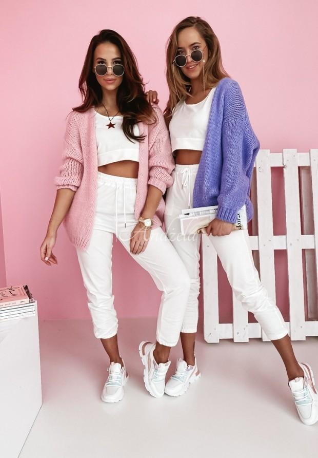 Sweter Kardigan Selma Light Pink
