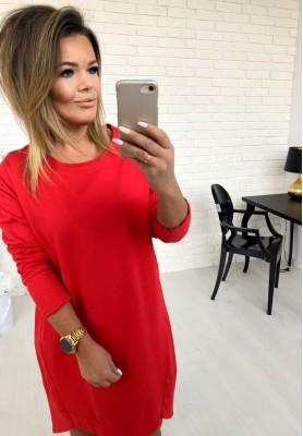Sukienka Long Back Czerwona