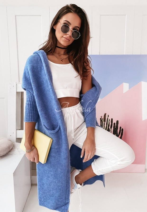 Sweter Kardigan Peace Blue