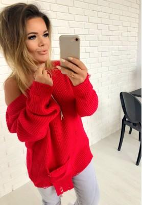 Sweter Sweep Czerwień
