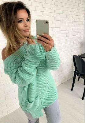 Sweter Sweep Mięta