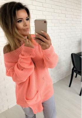 Sweter Sweep Łosoś