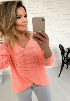 Sweter Cream Łosoś