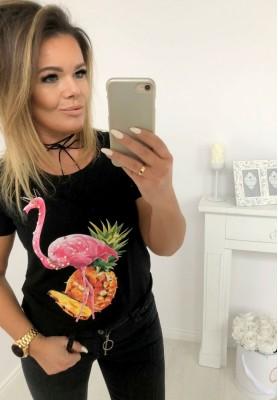 6348 T-shirt Pineapple Black