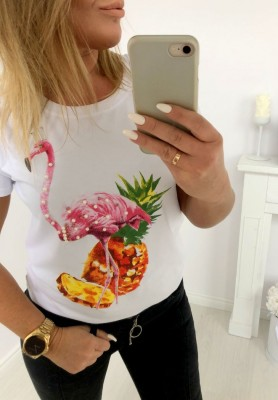 6348 T-shirt Pineapple White