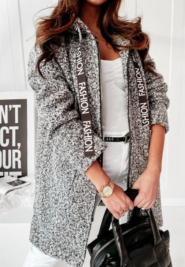 Płaszcz  Fashion Melanż Grey