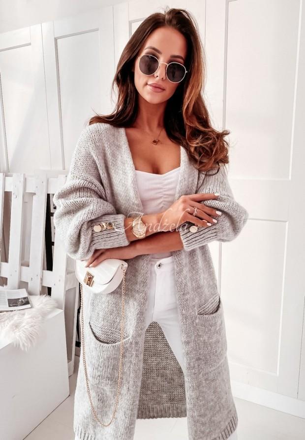Sweter Kardigan Almena Grey