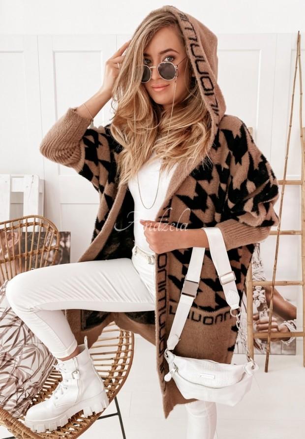 Płaszcz Alpaka Miray Camel&Black