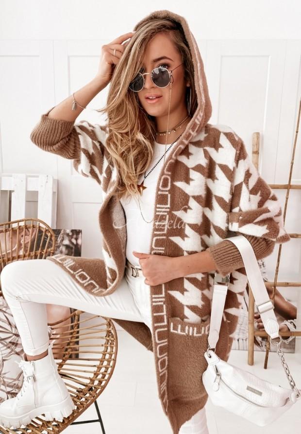 Płaszcz Alpaka Miray Camel&Ecru