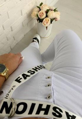 18451 Spodnie Fashion White