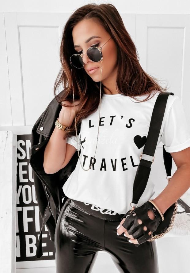 T-shirt Let-s Travel White