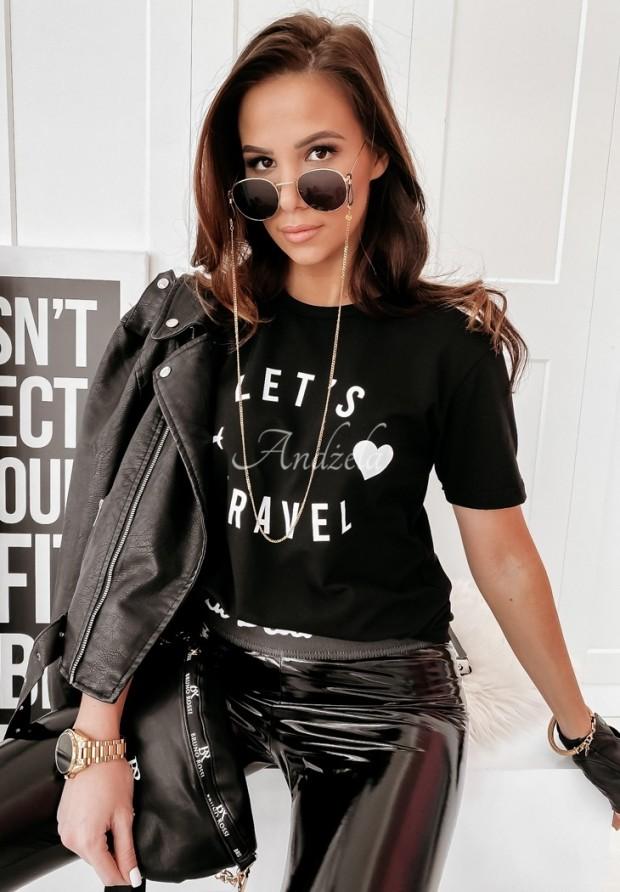 T-shirt Let-s Travel Black