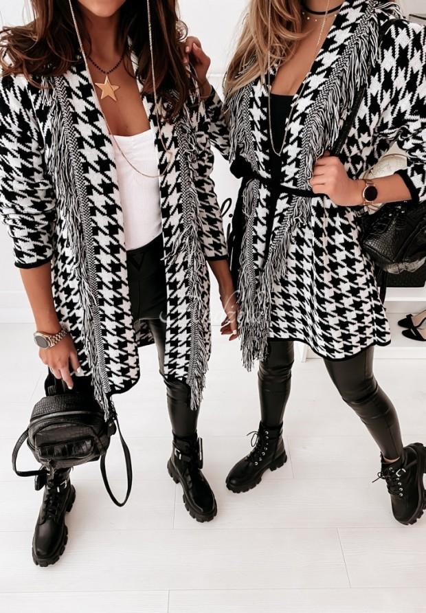 Kardigan Delphi Black&White