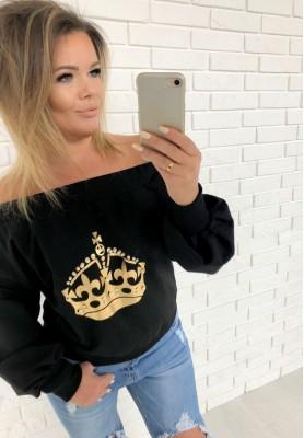 4375 Bluza Queen Czarna