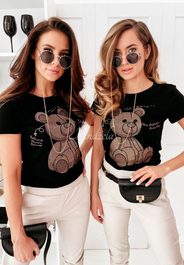 T-shirt Teddy Black