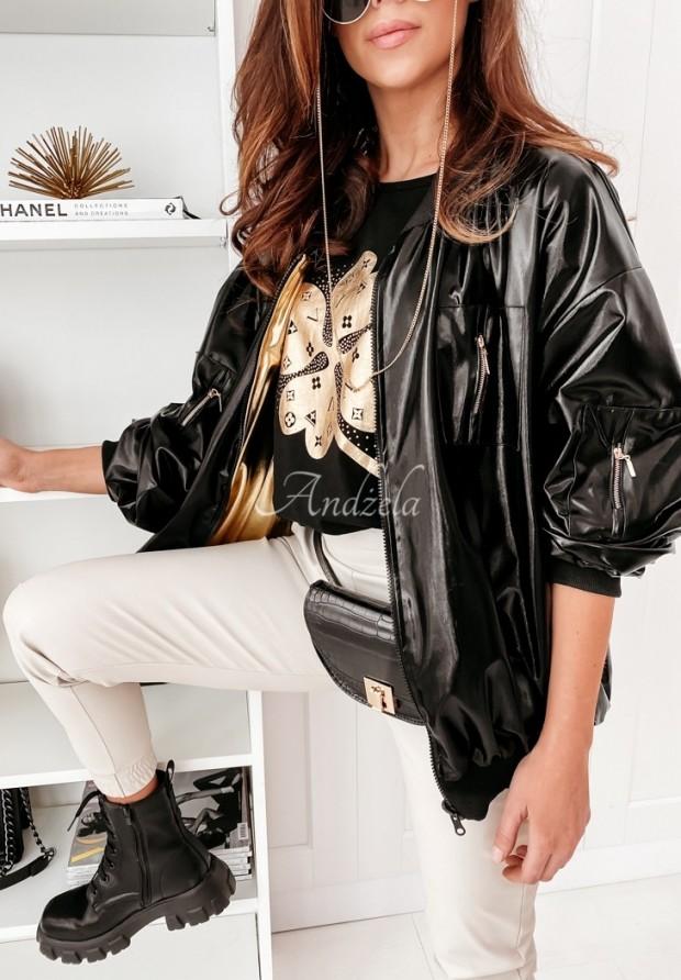 Kurtka Bomberka Jess Black&Gold