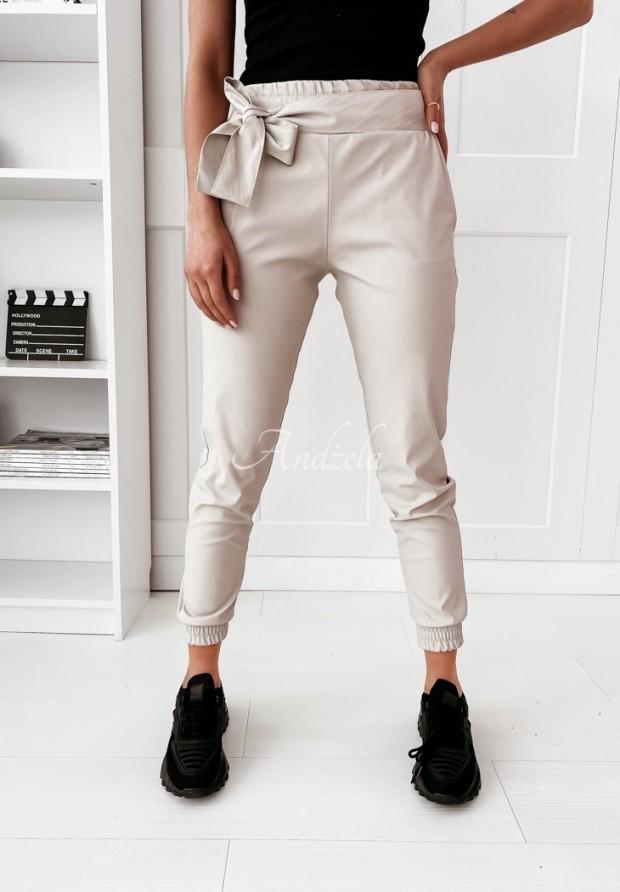 Spodnie Leather Isle Nude