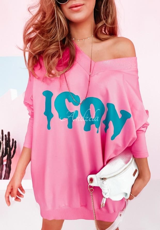 Bluza Sukienka Oversize Icon Pink