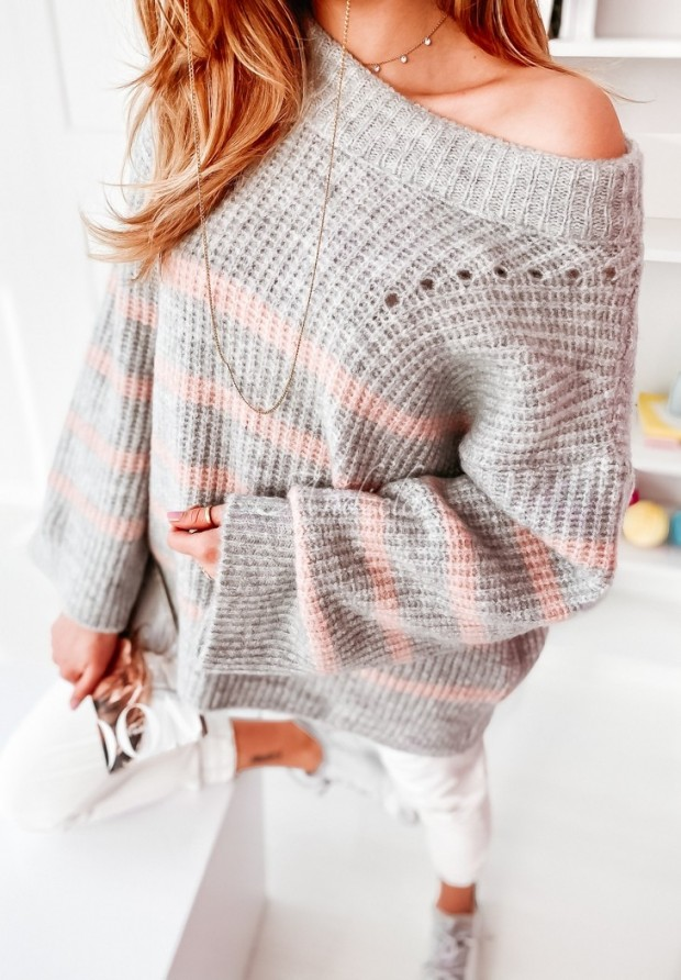 Sweter Messa Grey&Powder
