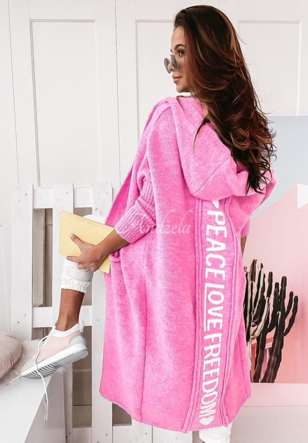 Sweter Kardigan Peace Pink