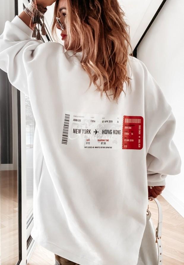 Bluza Ticket White