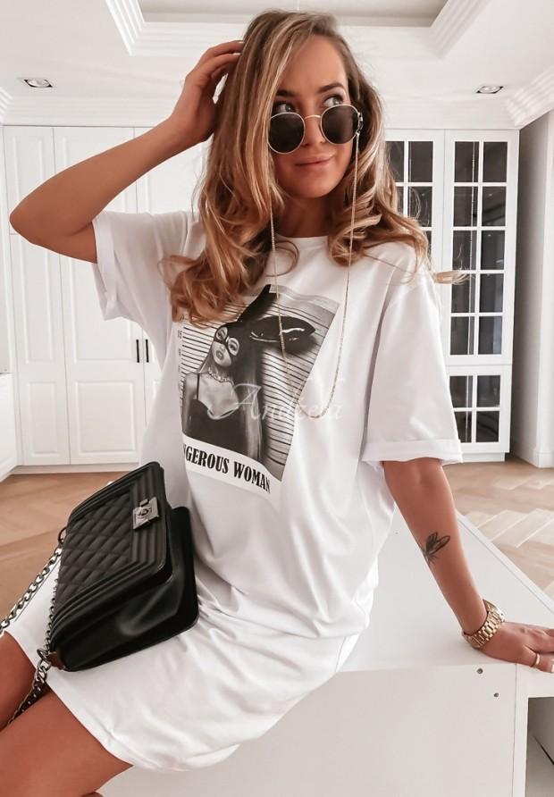 Bluzka Tunika Dangerous Woman White