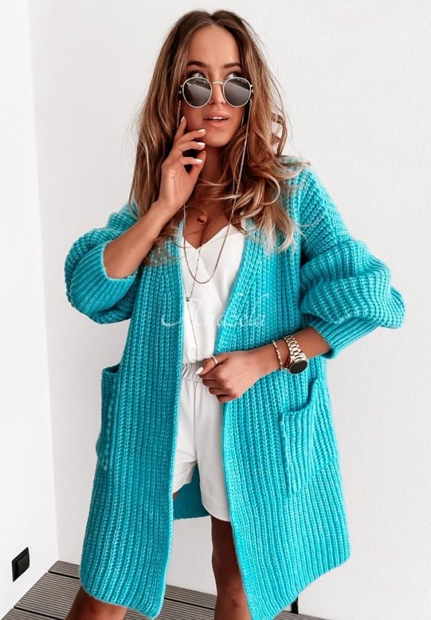 Sweter Kardigan Marinela Turquoise