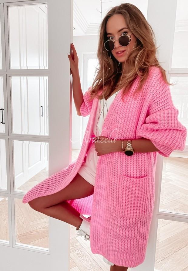 Sweter Kardigan Marinela Pink