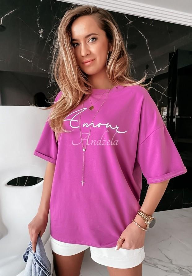 T-shirt Amour Violet