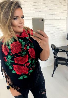 Chusta Roses Green