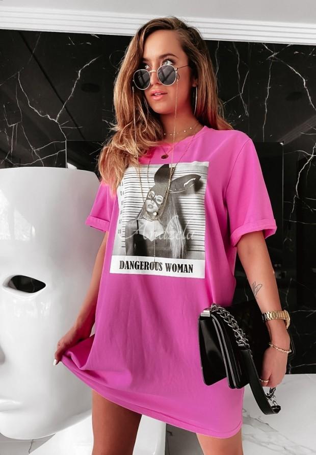 Bluzka Tunika Dangerous Woman Pink