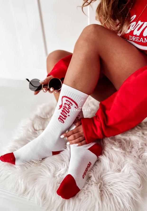 Skarpetki Coca White&Red