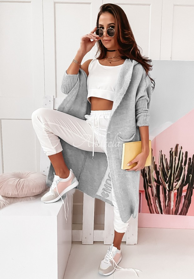 Sweter Kardigan Peace Grey