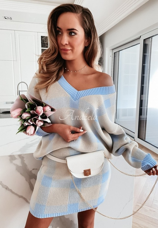 Komplet Sweterkowy Margo Baby Blue