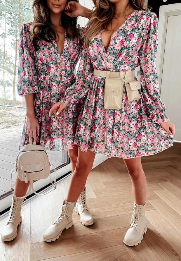 Sukienka Maledia Pink&Green