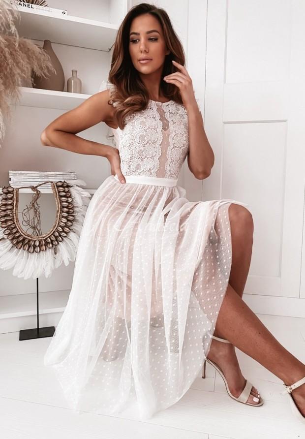Sukienka Tiul Nascha White&Nude