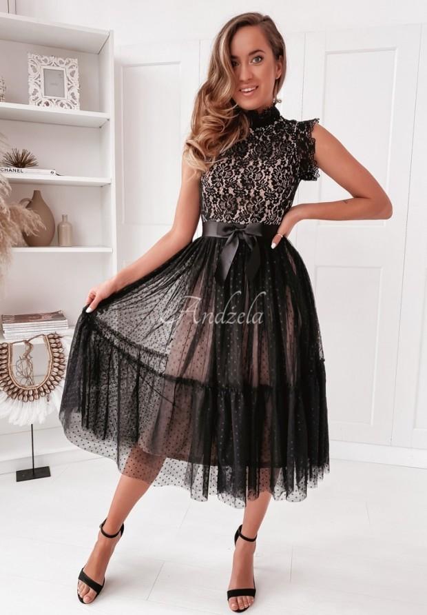 Sukienka Tiul Lisha Dots Black