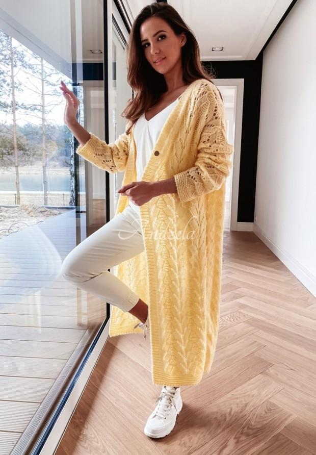 Sweter Kardigan Adrias Yellow