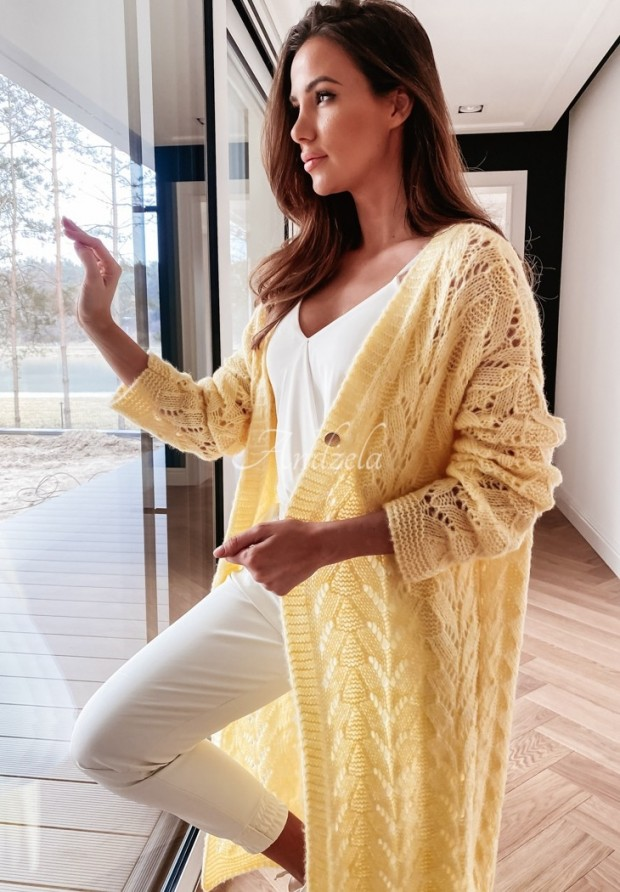 Sweter Kardigan Adrias Yellow