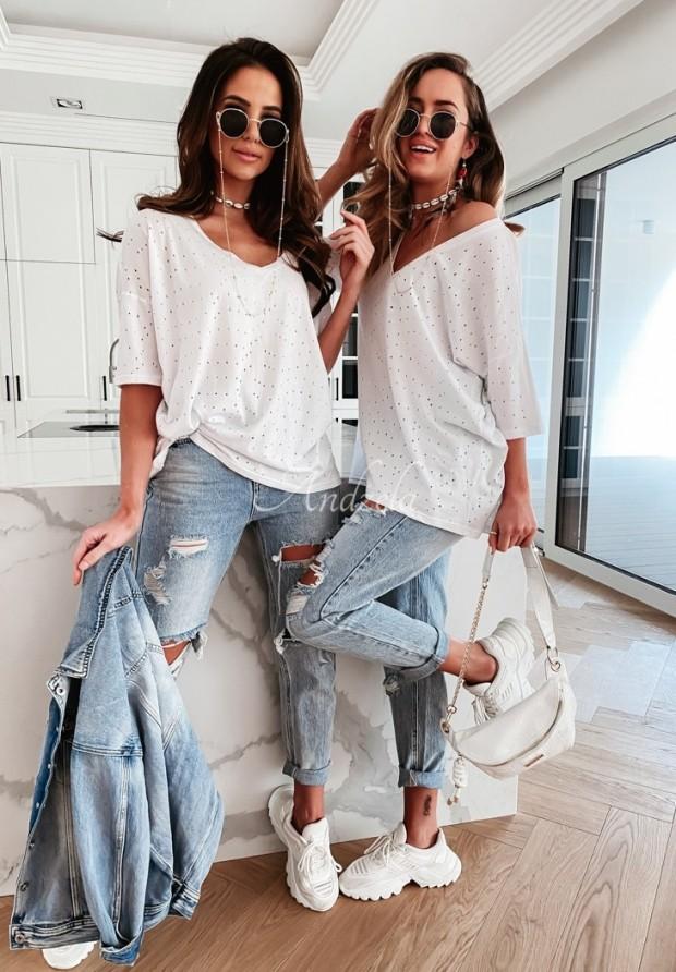 T-shirt Holes Oversize White