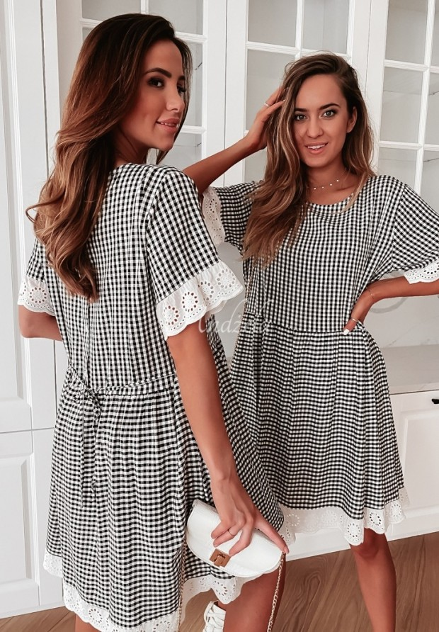 Sukienka Krata Torrena Black&White