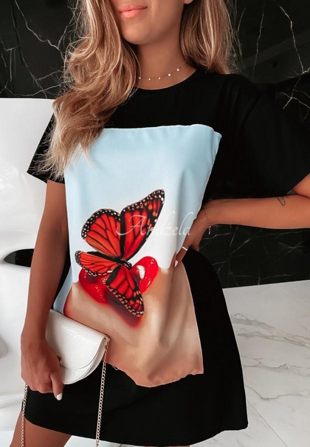Sukienka Tunika Butterfly Black