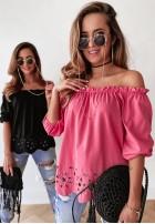 Bluzka Hiszpanka Malvira Pink
