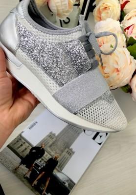 940 Buty Adidasy Glam Silver