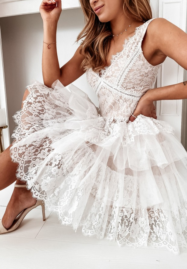 Sukienka Tiul Rubinetta White&Beige